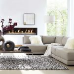 Luxury Grey Unique Sectional Sofas With Stylish Rug