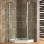 Modern Corner Shower Units With Glass Shower Door