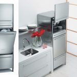 Modern Grey Metal Small Stove Oven With Storage Place