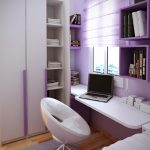 Modern Small Bedroom With Small Bedroom Desks And Bookshelves