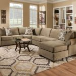 Most Comfortable Sectional Sofa Made Of Soft Fabric And Patterned Sofa Plus Oval Coffee Table And Wooden Floor For Inviting Living Room Ideas