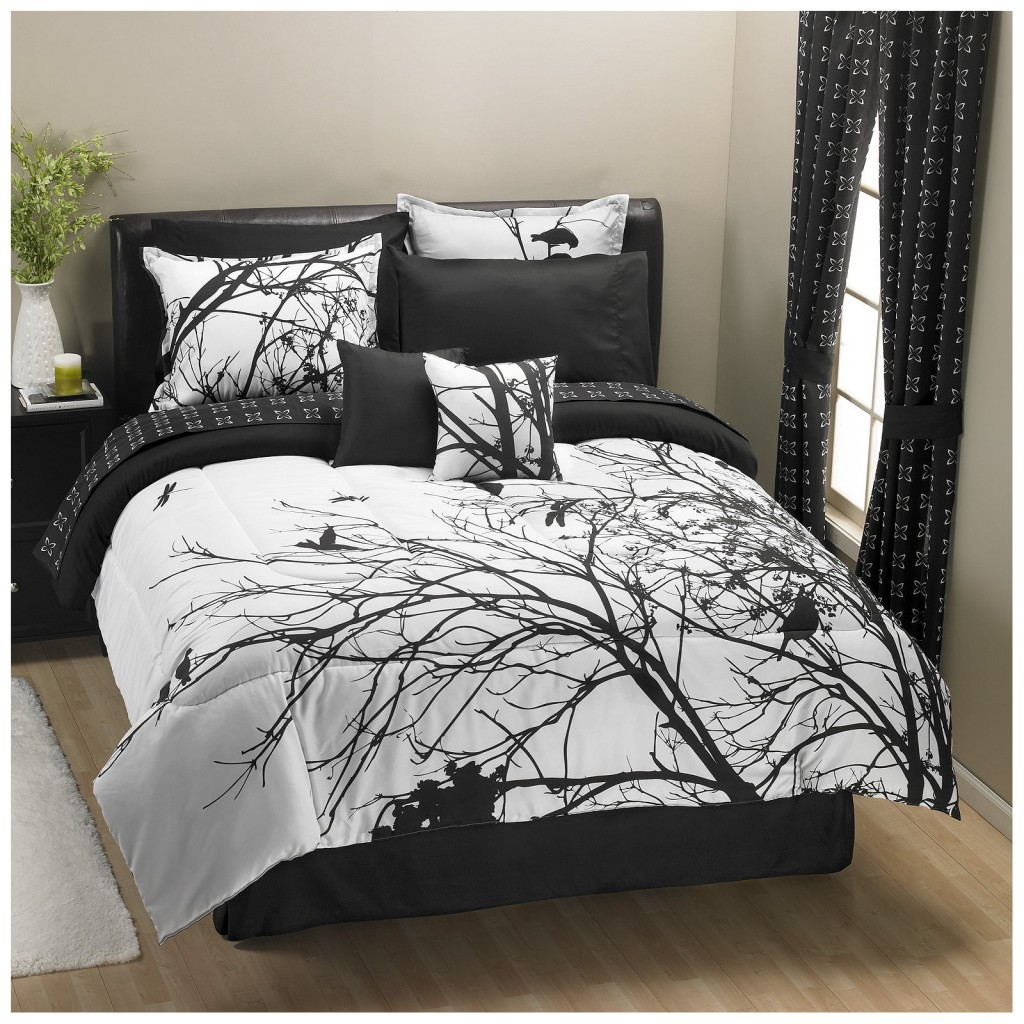 Natural Tree Pattern On Bedding With Cool Comforter Sets