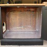 Open Black Wooden Cat Litter Box Ideas