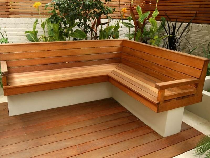 Brilliant Outdoor Corner Bench Homesfeed Theyellowbook Wood Chair Design Ideas Theyellowbookinfo