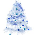 Pretty Tree Blue And White Christmas Lights