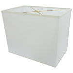 Pretty white lampshade idea in rectangular shape