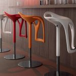 Random Color Of Unique Funky Bar Stools