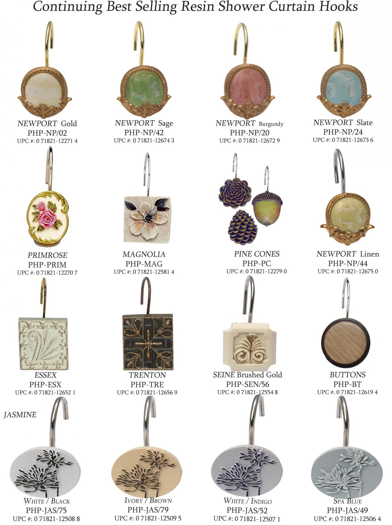 Decorative Shower Hooks