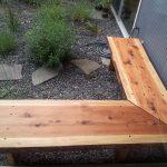Real Wooden Outdoor Corner Bench