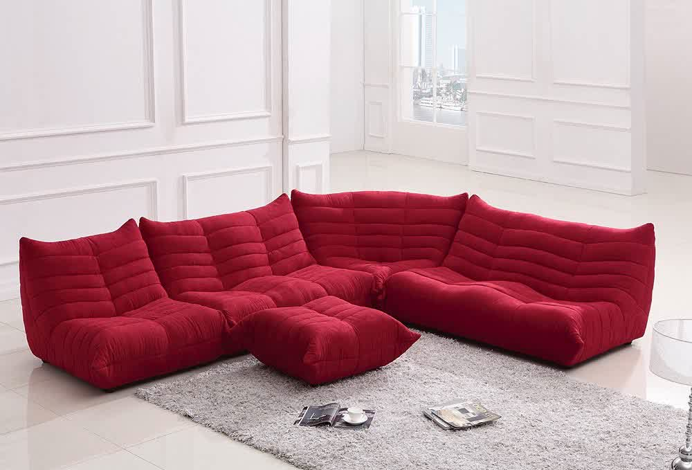 Red Microfiber Sectionals Highlight Your Living Room Homesfeed