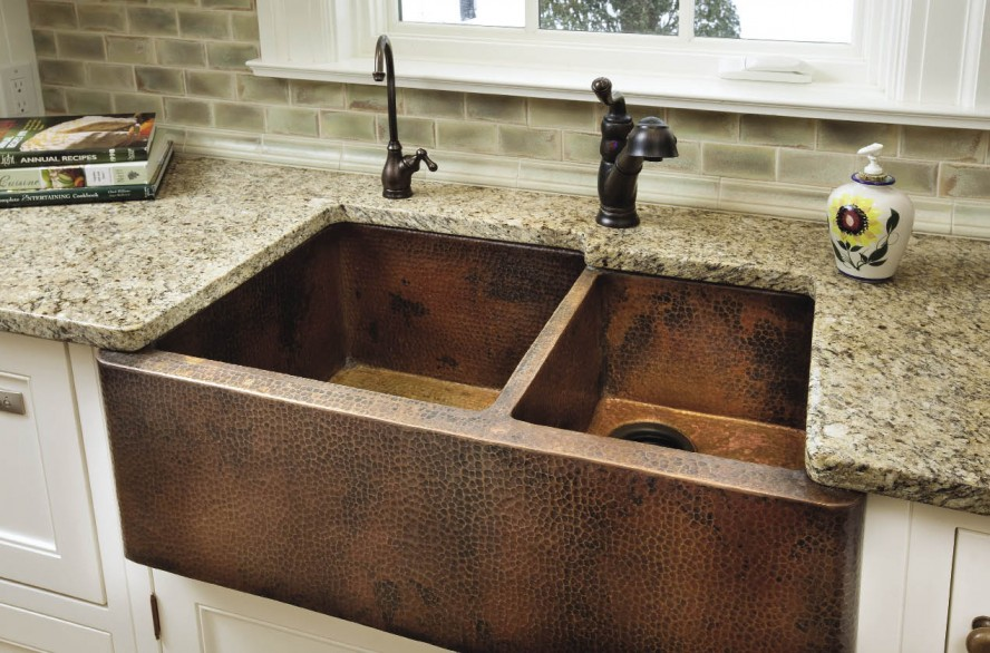 Kitchen Benchtops With Copper Sink