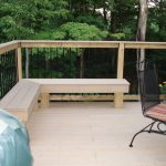 Simple Outdoor Corner Bench For Balcony With Wood