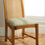 Simple Wooden Cane Back Dining Chair