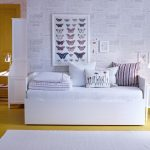 Simple White Daybed With Mattress And Pillows As Guest Bed Idea