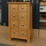 Solid Oak Wooden CD Storage Drawers