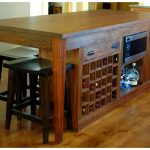 Solid wood kitchen island with wine storage and oven storage black finished wood bar chair