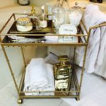Spa Bar Cart Accessories In Bathroom