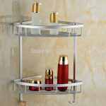 Space Alluminum Dual Layer Of Shampoo Rack For Shower