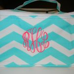 Stylish Turquoise Monogrammed Cosmetic Bags