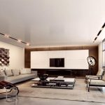 Sweet Awesome Modern Living Room Design Inspiration With Long Sofa And Large Rug