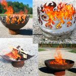 The series of outdoor fire pits with different designs