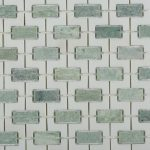 Treils And Ming Green Marble Tile With White Thassos