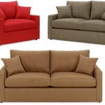 Triple Different Color Of Twin Size Sleeper Sofa With Double Pillows