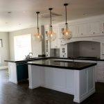 Triple Kitchen Pendant Light Fixture With Small Light Inside White Kitchen