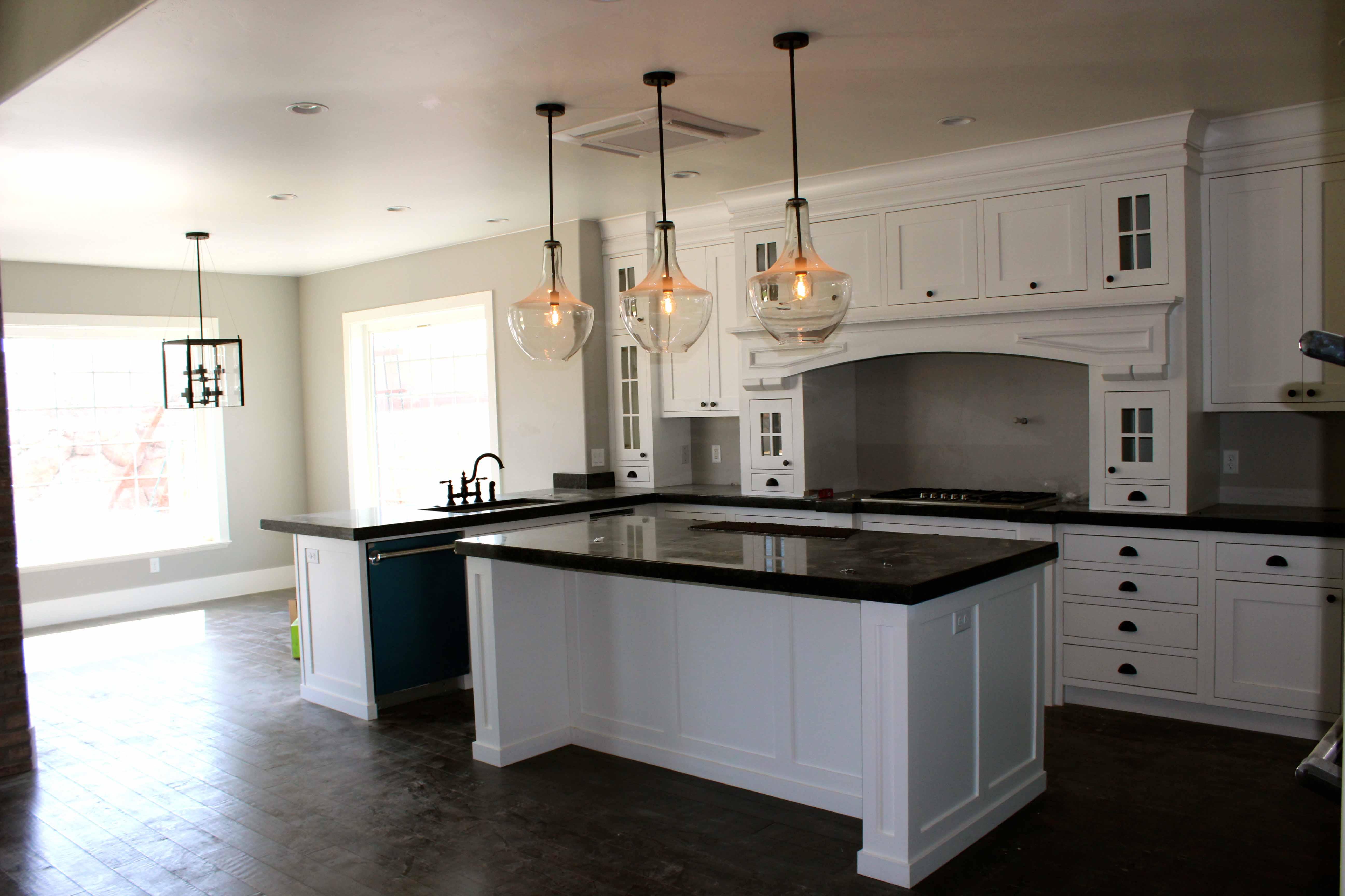 White Kitchen Chandelier