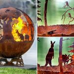 Unique outdoor fire pit  ball with animal features