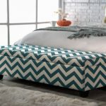 Upholstered Bench With Storage And Stylish Pattern