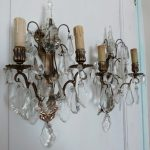 battery operated crystal wall sconces