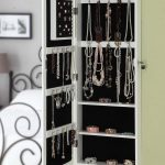 White Black Design Of Hanging Jewelry Armoire