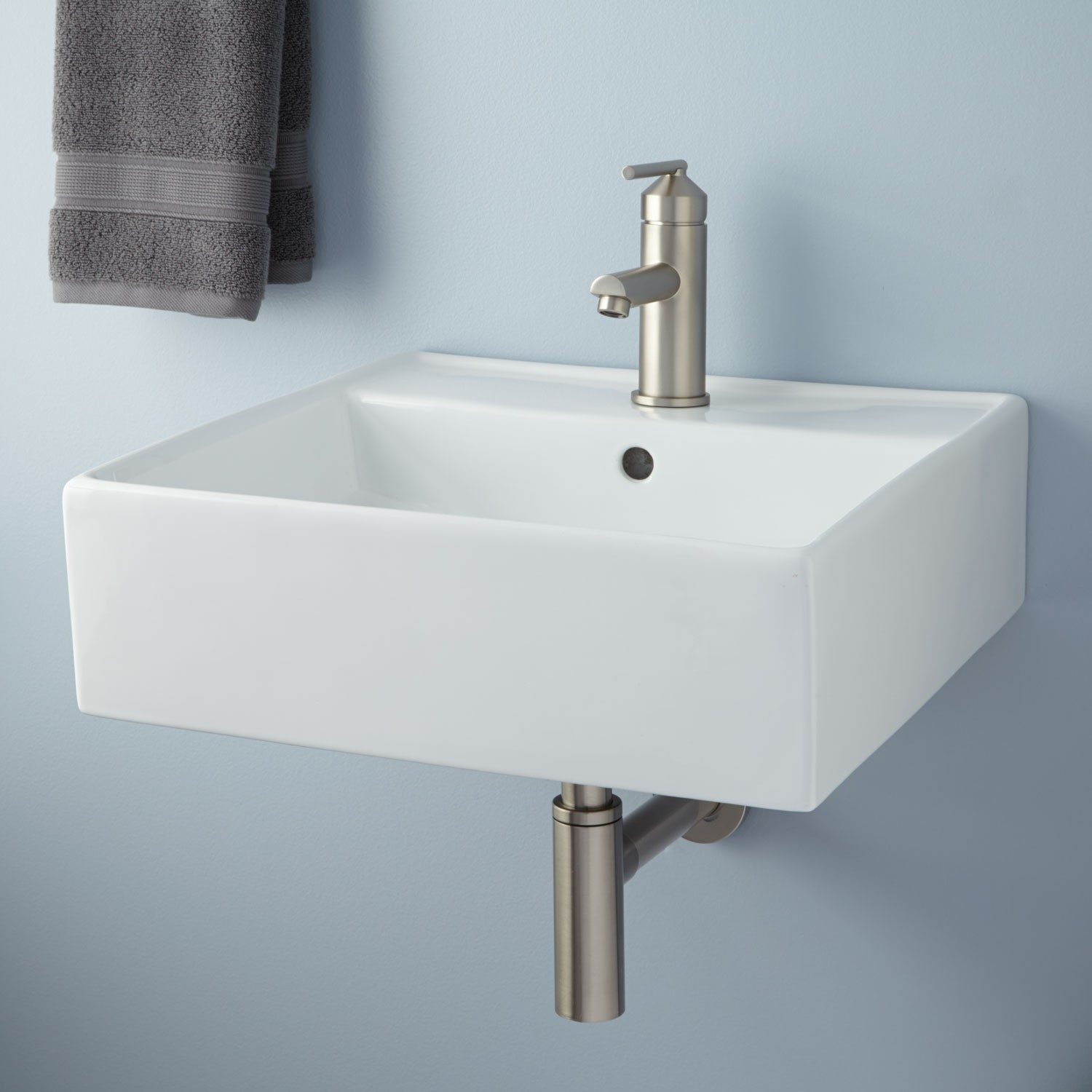White Hardware Small Wall Mount Sink