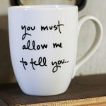 White Message Proposal Of Best Coffee Mugs