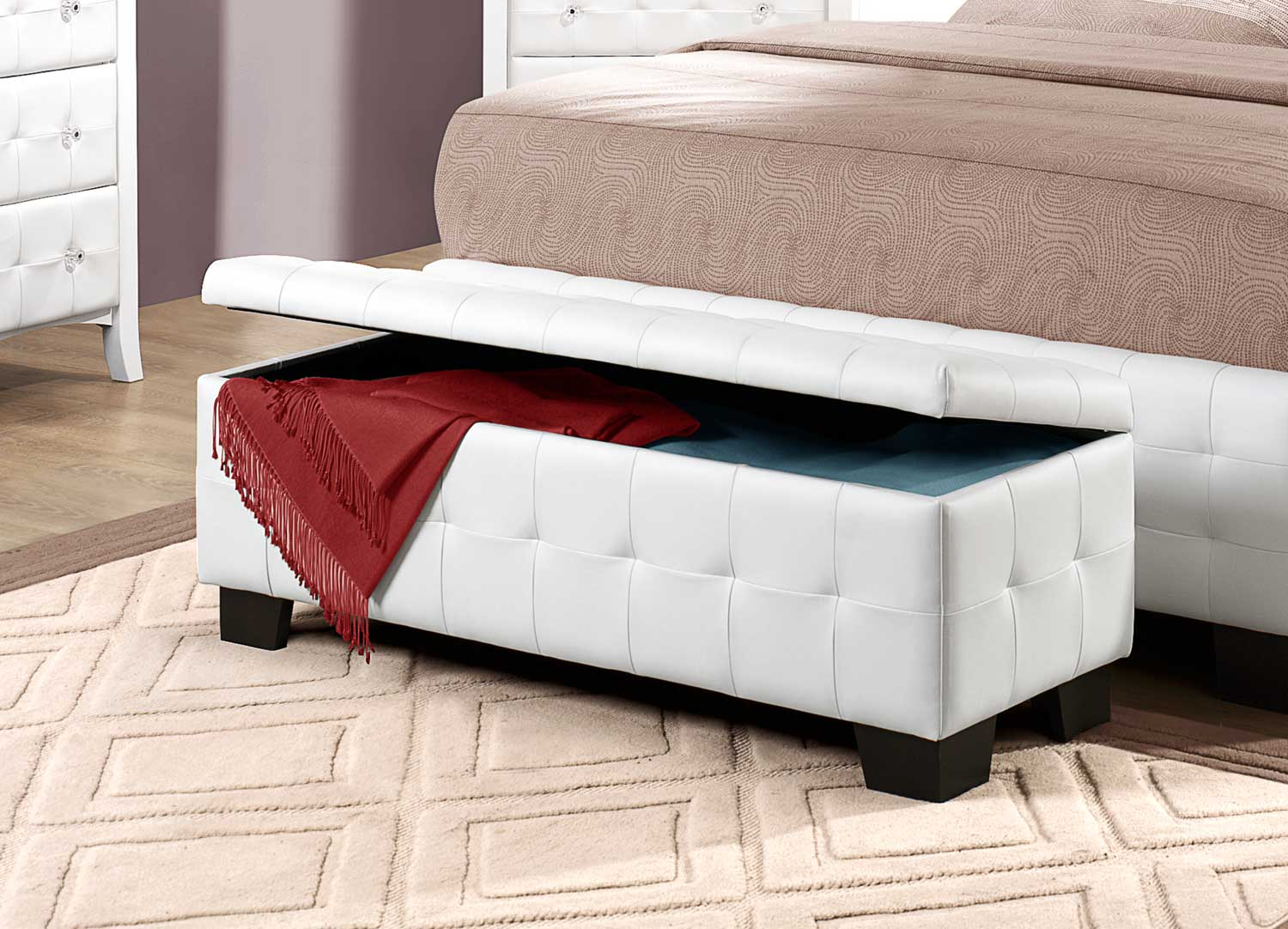 Bench By Bed: Upholstered Bench With Storage