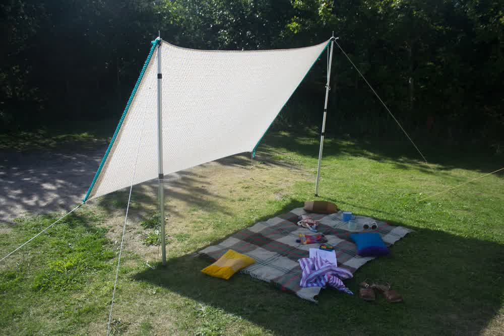 DIY Shade Sail: Simple, Practical, and Recommended ... on Shade Sail Backyard Ideas id=30654