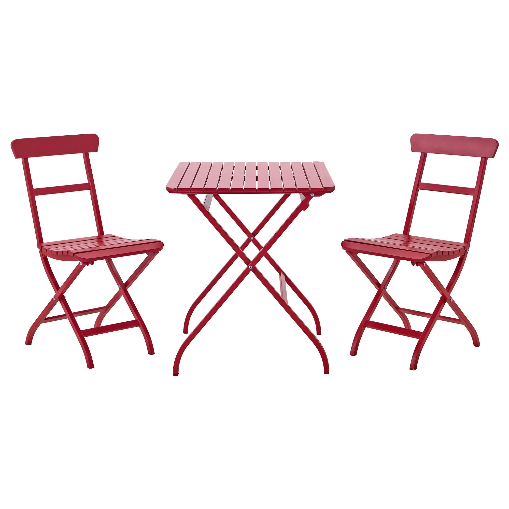 Wooden Red Ikea Bistro Set