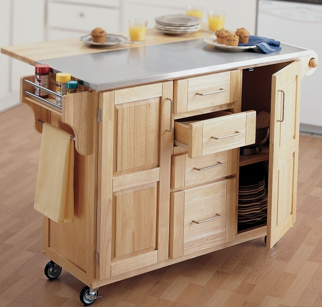 kitchen carts on wheels movable meal preparation and service