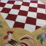 Wool Textured Of Rooster Kitchen Rugs