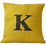 Yellow K Design Of Monogrammed Throw Pillows