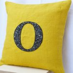 Yellow O Monogrammed Throw Pillows
