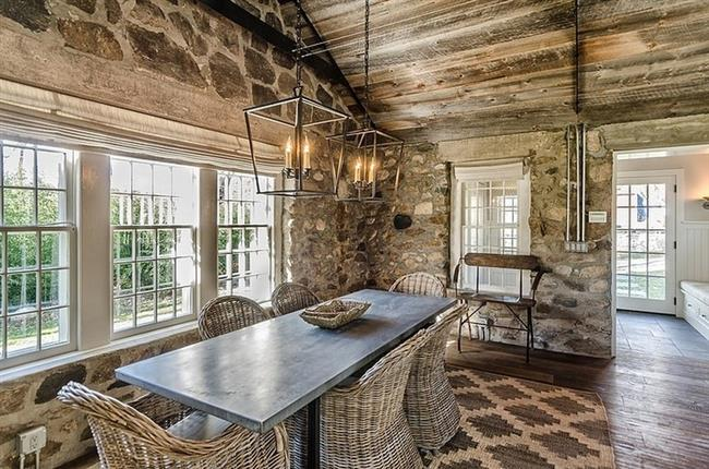 Superb Retreat With Rustic Stone Application In The