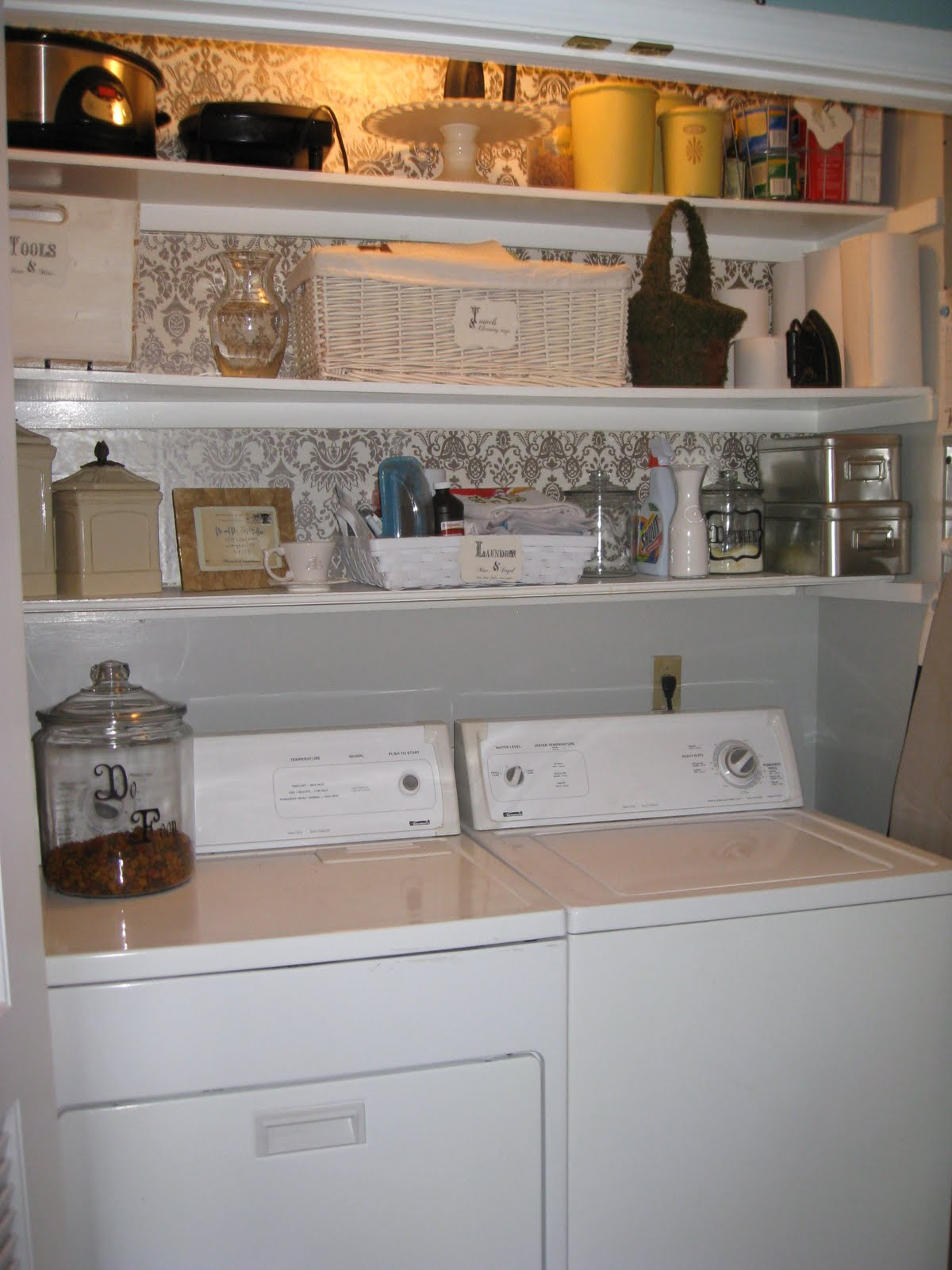 Amazing Laundry Room Shelf Ideas With Wall Mounted Shelves And Decorative Elements Together Stunning Wallpaper