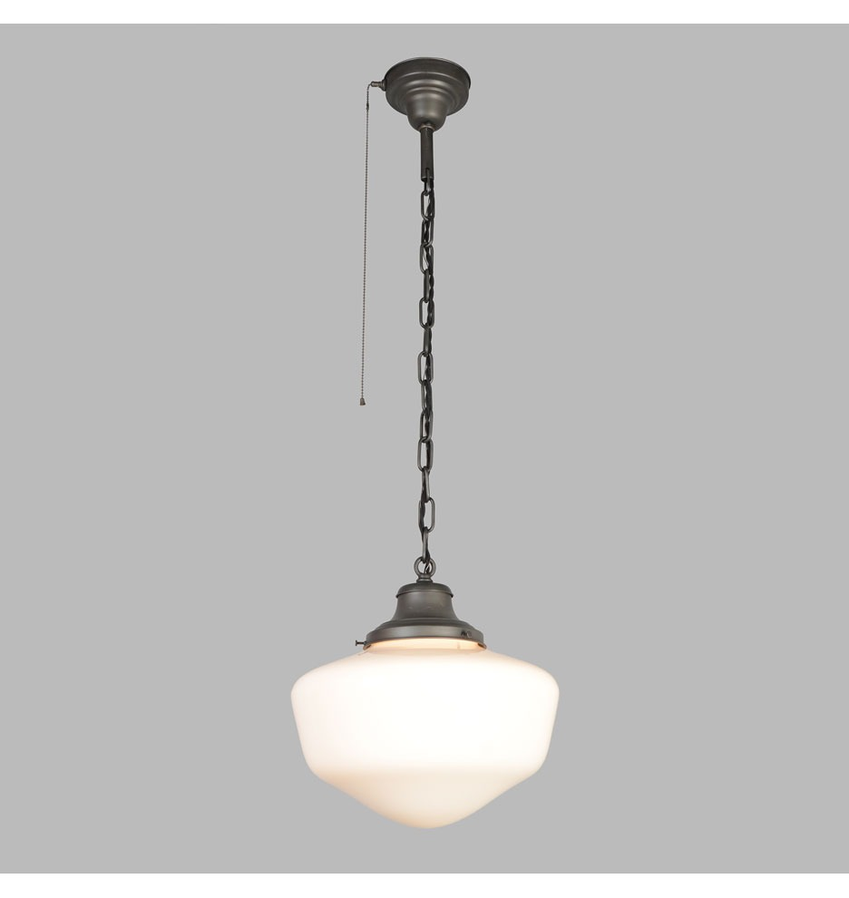 Antique Pull Chain Ceiling Light Fixture Schoolhouse For Home Interior