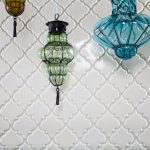 awesome beveled arabesque tile for mesmerizing kitchen ideas with glass ornaments