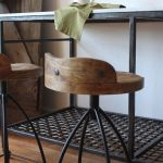 awesome vintage metal bar stools together with sturdy table made of iron