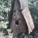 creative-and-decorative-birdhouse--Wood-Spirit-Unique-Old-Man-rustic-Hand-Carved-Cedar-and-completely-flat-at-the-back-and-the-bottoms-are-removable