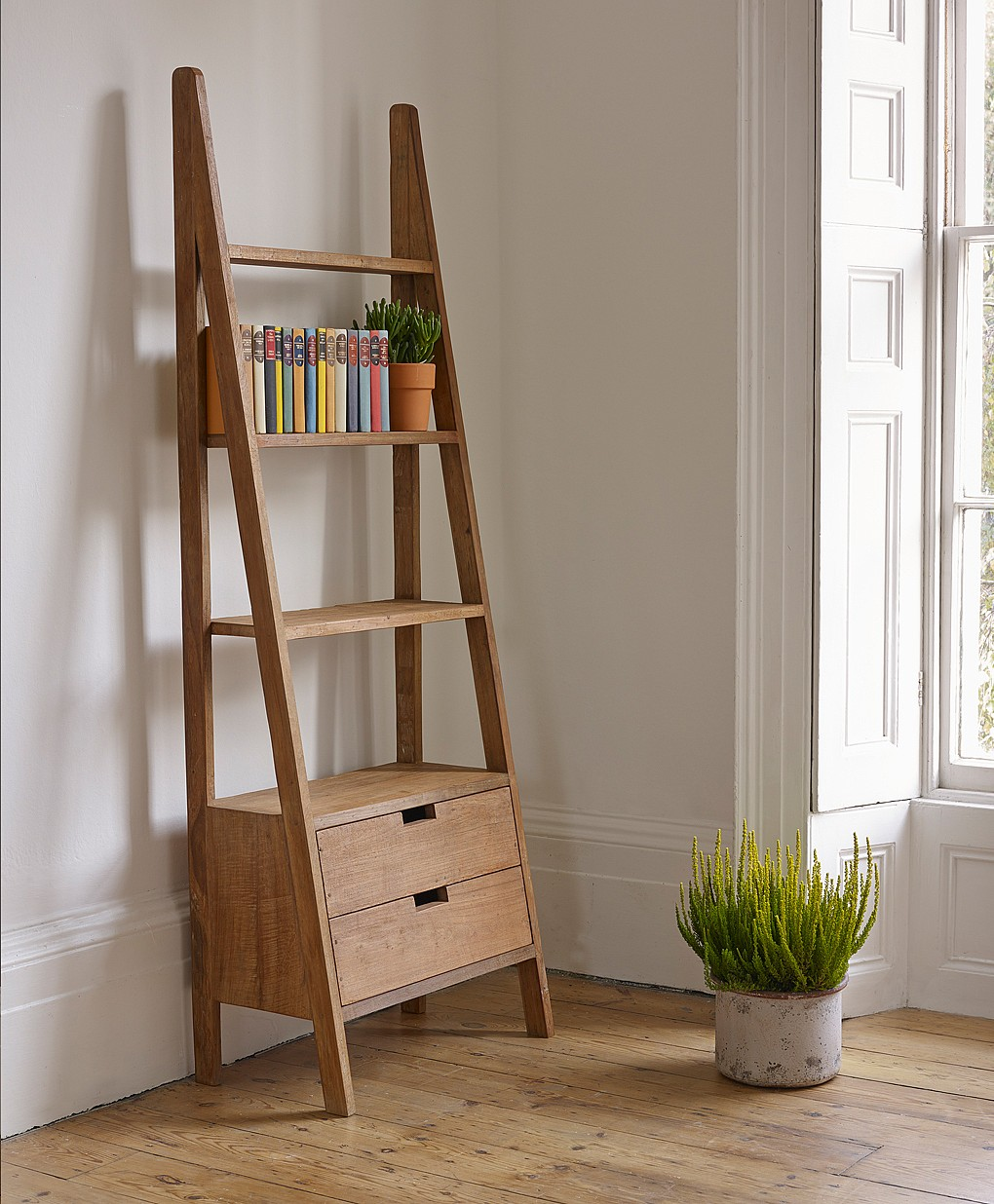 Outstanding Storage Ideas with a Ladder Shelving Unit ...