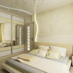 elegant creamy beautiful interior design with sliding glass doors and yellow gray bedding and adorable wall lighting idea